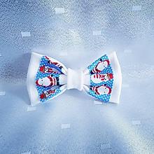 Detské doplnky - Motýlik Santa&Snowman bow tie - 10057974_