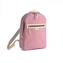 Batohy - Backpack Pink denim - 10061686_