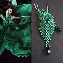 Náušnice - Emerald Drops - 10059666_