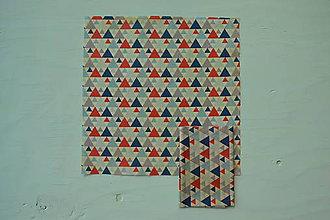 Úžitkový textil - Včelí ekoobal 25*25 (Trojuholníky červené) - 10058300_