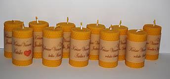Svietidlá a sviečky - Sviečka s venovaním - 10058021_