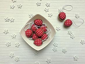 Dekorácie - Mini bodkované červené - 10059973_