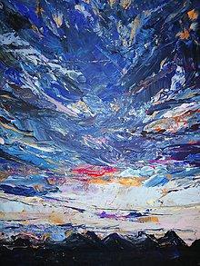 Obrazy - Sunset-akryl na plátne - 10060950_