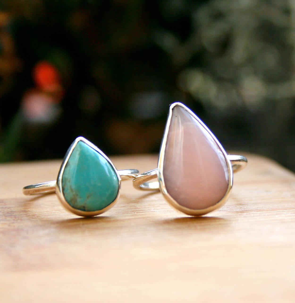 Prstene - Strieborný prsteň s pudrovo ružovým opálom  - 10059869_