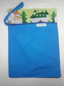 Detské doplnky - vrecko na plienky (zelené) - 10059531_
