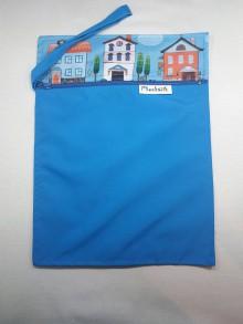 Detské doplnky - vrecko na plienky (modré) - 10059533_