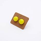 Náušnice - MINI sklenené náušničky - Svetlo žltá - 10060782_