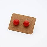 Náušnice - MINI sklenené náušničky - Červené - 10060817_