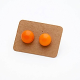 Náušnice - MINI sklenené náušničky - Oranžové - 10060887_