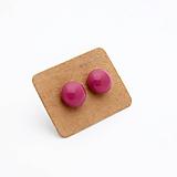Náušnice - mini sklenené náušničky - Ružové - 10060921_