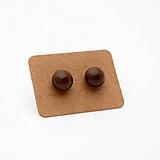 Náušnice - MINi sklenené náušničky - Čokoládové - 10060959_