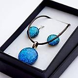Sady šperkov - Tyrkysová sada sklenených šperkov I.  - 10061065_