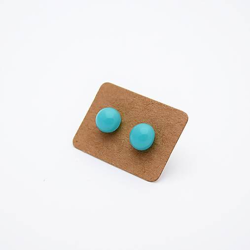 MINI sklenené náušničky - Svetlomodré