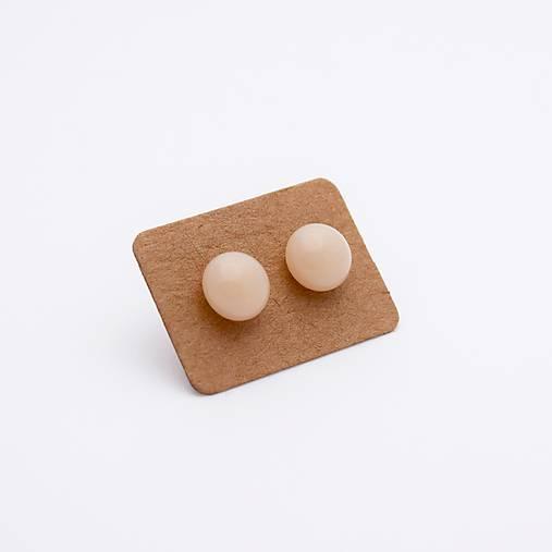 MIni sklenené náušničky - Marcipánové