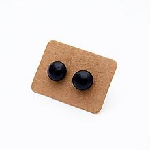 Náušnice - MINI sklenené náušničky - Čierne - 10060796_