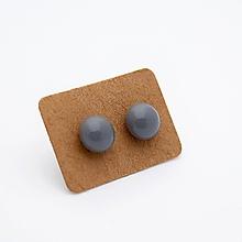 Náušnice - MINI sklenené náušničky - Sivé - 10060820_