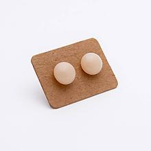 Náušnice - MIni sklenené náušničky - Marcipánové - 10060988_
