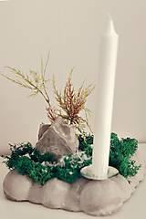 Svietidlá a sviečky - vianočná dekorácia na stôl - 10059987_