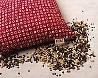 Úžitkový textil - FILKI šupkový vankúš na spanie 45 cm (červená drobný vzor) - 10058128_
