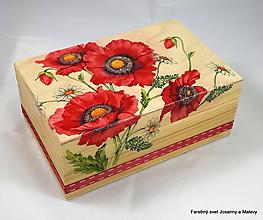 Krabičky - šperkovnica Vlčie maky - 10060794_