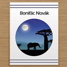 Pomôcky - Deň a noc - linajková podložka do zošita (safari v noci) - 10059194_