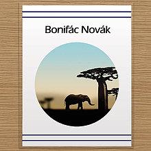 Pomôcky - Deň a noc - linajková podložka do zošita (safari cez deň) - 10059923_