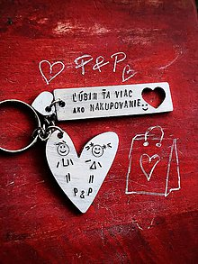 Kľúčenky - ľúúúbim Ťa viac ako nakupovanie :) - 10063707_