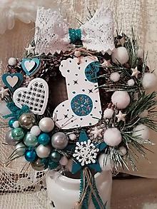 Dekorácie - vianočný veniec na zavesenie - 10064476_