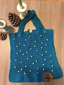 Nákupné tašky - ShOpper WOOden Blue - 10064083_