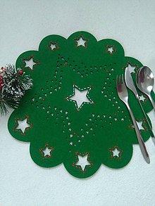 Úžitkový textil - Hviezdy čarujú (vianočné prestieranie) - 10063753_
