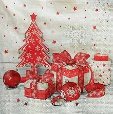 Papier - S1337 - Servítky - Vianoce, sneh, stromček, darček, zima - 10062271_