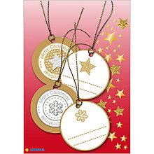 Papiernictvo - Dizajnové Vianočné etikety - zlaté - 10064217_