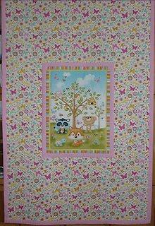 Textil - Detská deka ZVIERATKÁ POD STROMOM  (rozmer cca 200x130cm) - 10063640_