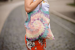 Nákupné tašky - Usmej sa na mňa: Batikovaná taška - 10064412_