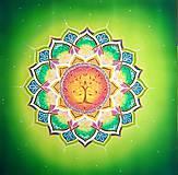 Dekorácie - Mandala uzdravenia a vyváženosti - 10062426_