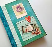 Papiernictvo - Diár Ručne šitý sketchbook * zápisník A5 - 10063477_