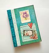 Papiernictvo - Diár Ručne šitý sketchbook * zápisník A5 - 10063480_