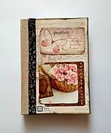 Diár Ručne šitý sketchbook  * zápisník * svadobný plánovač A5