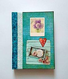 Papiernictvo - Diár Ručne šitý sketchbook * zápisník A5 - 10063476_