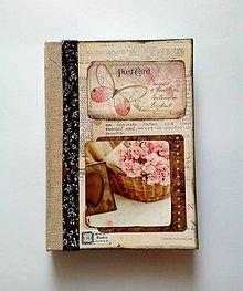 Papiernictvo - Diár Ručne šitý sketchbook  * zápisník * svadobný plánovač A5 - 10063519_