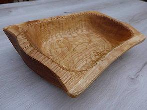 Nádoby - Drevená miska z čerešne, ručne dlabaná - 10064429_