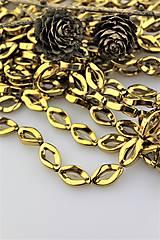 hematit vruty korálky zlaté 10x16mm