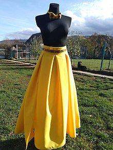 Sukne - Dlhá skládaná sukňa - 10064274_