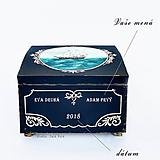 Nábytok - Maľovaná truhlica s plachetnicou a mapou - 10063371_