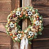 Prírodný vianočný venček z jedličky