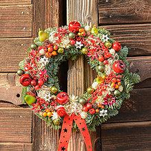 Dekorácie - Vianočný venček z jedličky - 10065650_