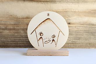 """Dekorácie - Drevená vianočná dekorácia """"Betlehem"""" - 10063073_"""