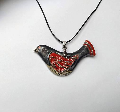 Keramický šperk - Vtáčik