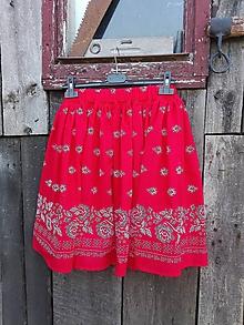 Sukne - Dámska folklórna sukňa (Červená) - 10065603_