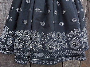 Sukne - Dámska folklórna sukňa (Čierno-biela) - 10065609_